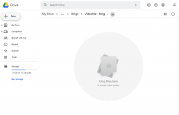 Google Drive cloud applicatie nieuw