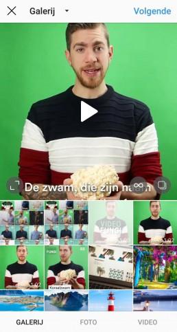 kiezen waar video staat