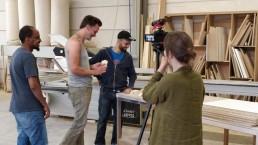 sociaal meubelatelier timmerwerkt sfeer atelier opnames op locatie